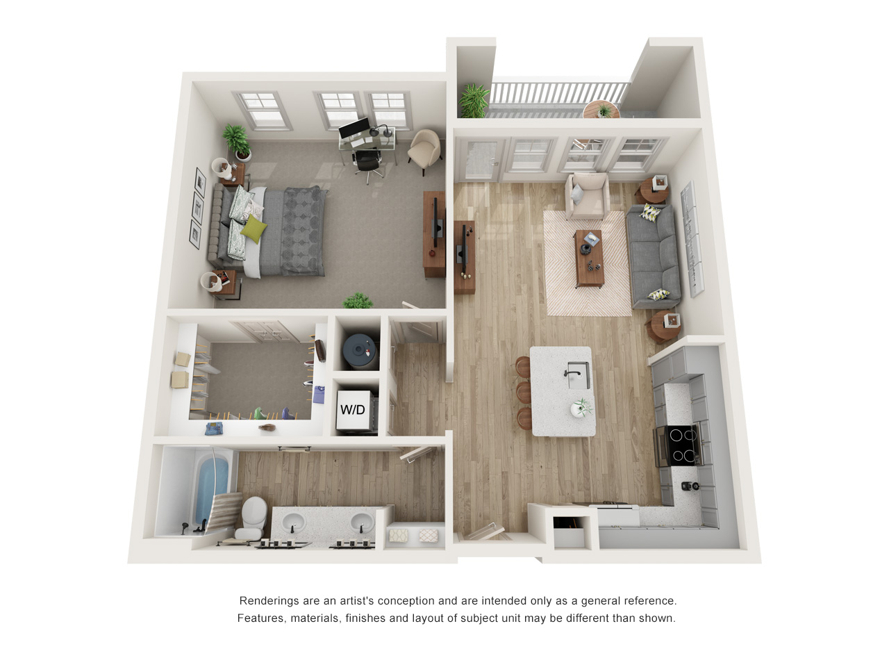 The Newton Floor Plan_The Menlo_A2_ALT